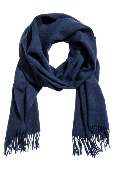 Wool scarf - Dark blue - Ladies | H&M IE 1
